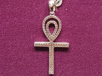 Iced-Out Pave Ankh Pendant Silver - Popular Jewelry