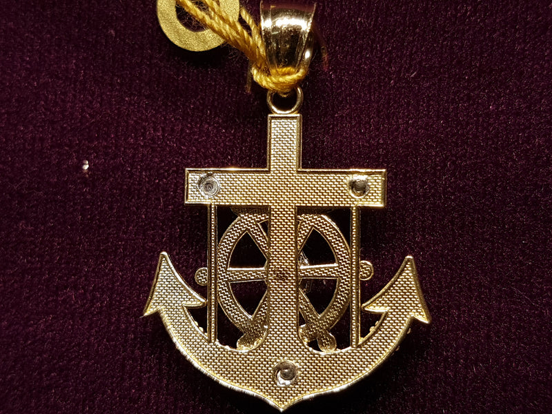 Nugget Style Jesus Anchor Pendant 10K - Lucky Diamond 恆福珠寶金行 New York City 169 Canal Street 10013 Jewelry store Playboi Charlie Chinatown @luckydiamondny 2124311180