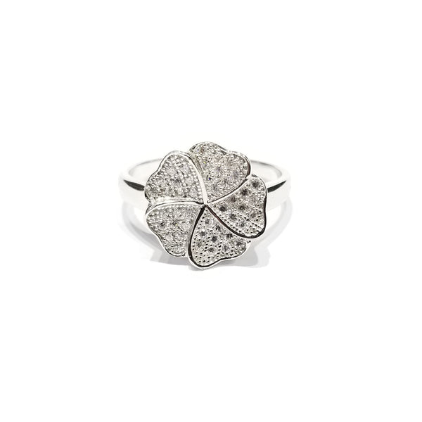 Five Leaf Clover CZ Ring