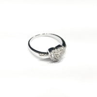 Heart Shaped CZ Ring (Sterling Silver)