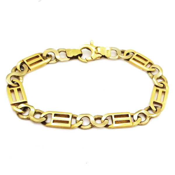 Hollow Tiger-Eye Link Bracelet (14K) Popular Jewelry New York