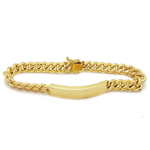 Hollow Miami Cuban ID Bracelet (14K)