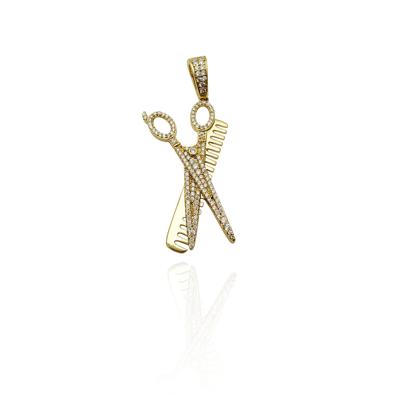 Scissor Comb Pendant (Silver) New York Popular Jewelry
