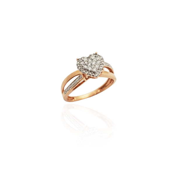 Diamond Infinity Heart Illusion Ring (14K).