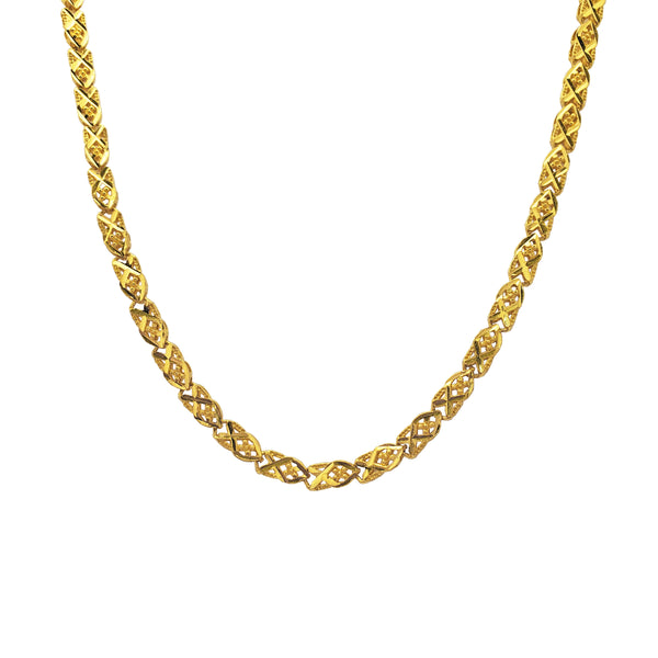 Fancy diamanten besunige folderketting (24K)