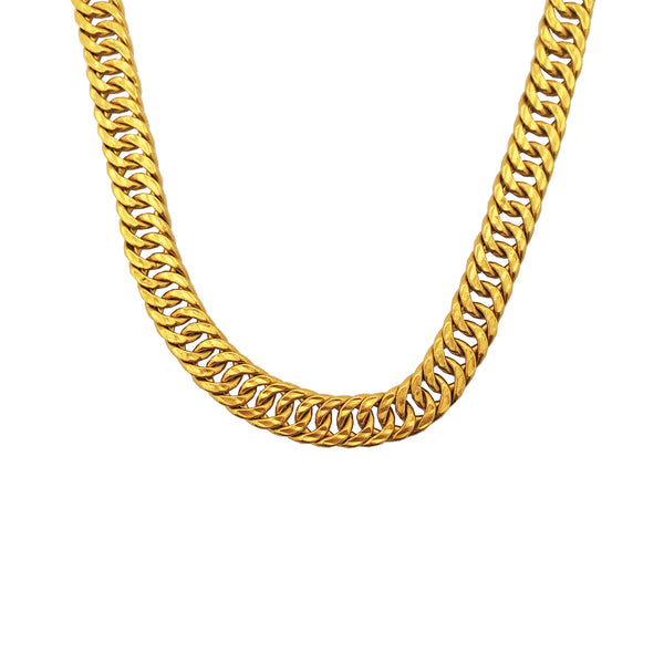Flat Miami Cuban Link Necklace (24K)