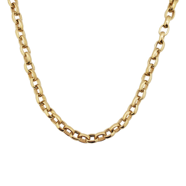Solid Rounded Cable Link Chain (14K)