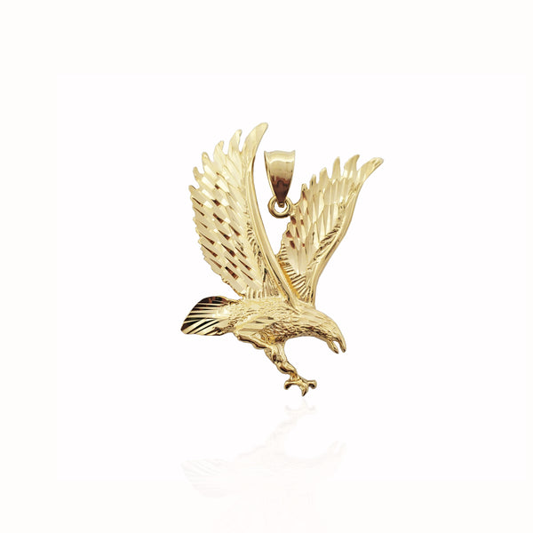 Diamond-Cut Soaring Eagle Hengiskraut (14K)