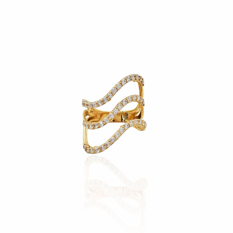 Triple High-Tide Cocktail Ring (14K)