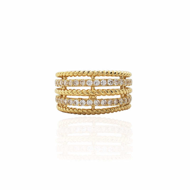 Ornate Slim Rope Band (14K)
