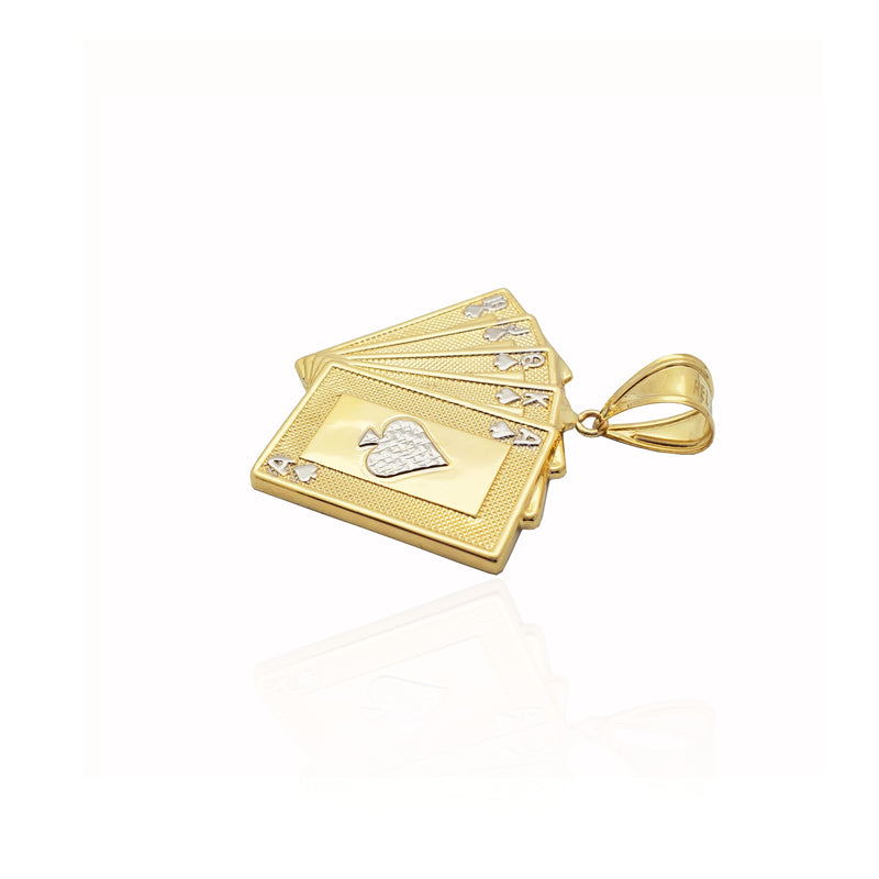 Royal Flush of Spades Pendant (14K)