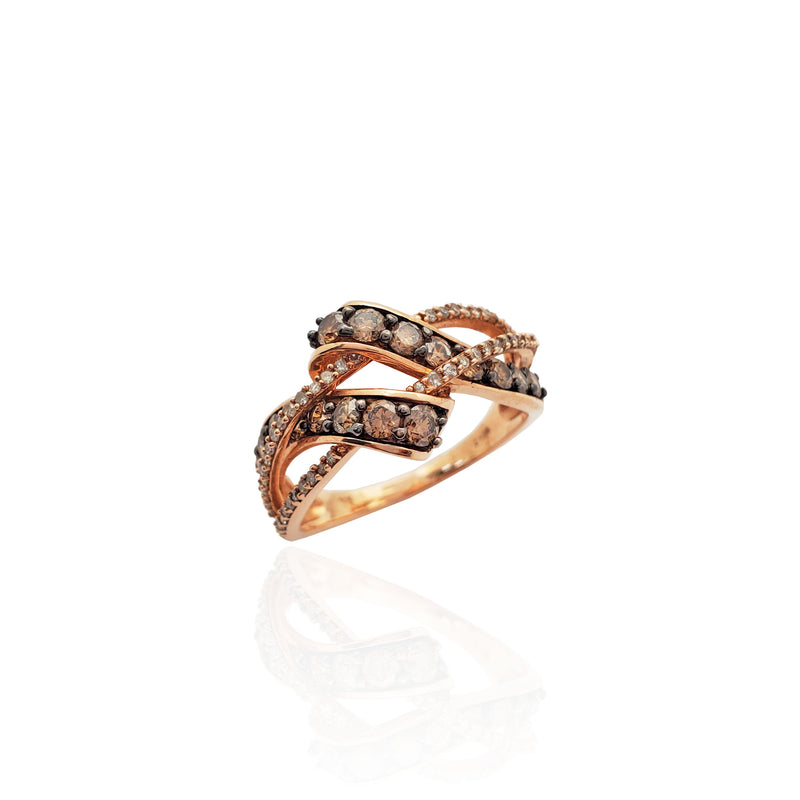 Rose Champagne Diamond Ring (10K).