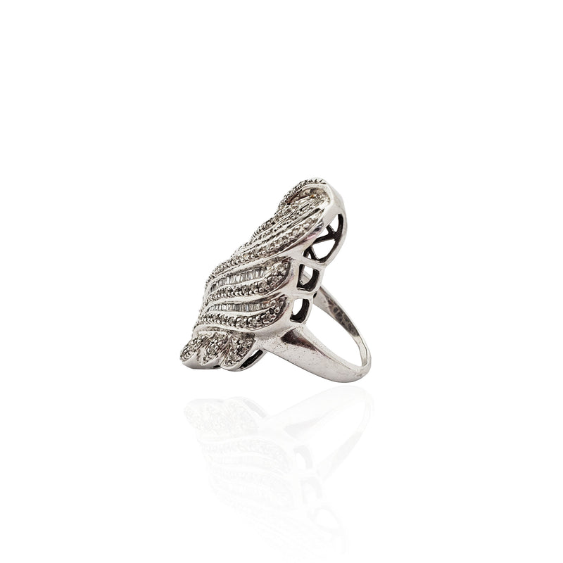 Infinite Swirl Diamond Cocktail Ring 14K - Lucky Diamond 恆福珠寶金行 New York City 169 Canal Street 10013 Jewelry store Playboi Charlie Chinatown @luckydiamondny 2124311180
