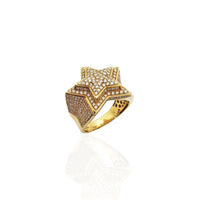 Iced-Out Emerging Star Diamond 14K jòn Gold