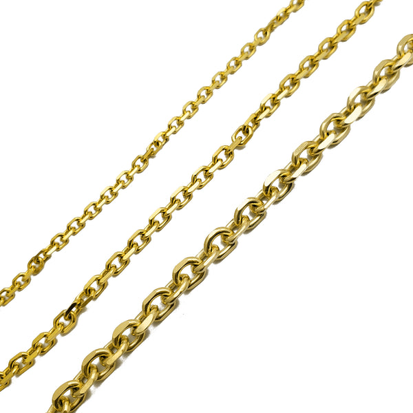 Solid Diamond Cuts Cable/Rolo Chain (14K)