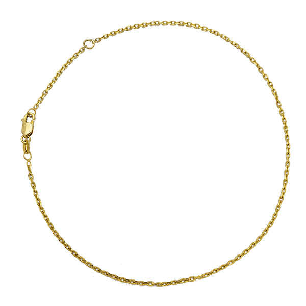 Thin Cable Anklet Link (14K)