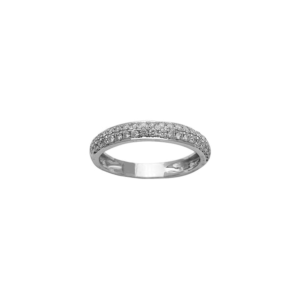 Diamond Pave Wedding Band Ring (14K)