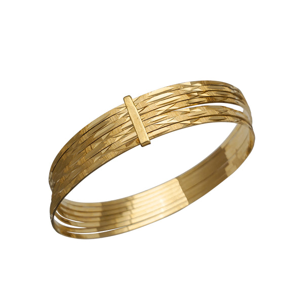 Semanario Diamond Cuts Bangle Bracelet (14K)
