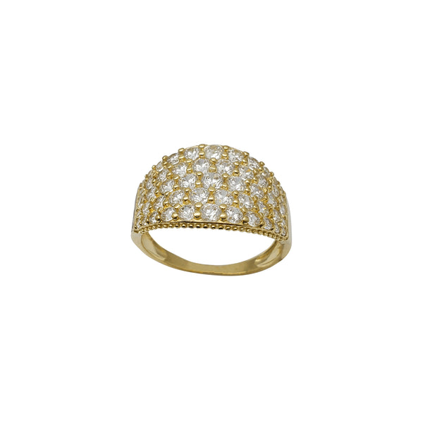 Zirconia Cluster Lady Ring (14K)