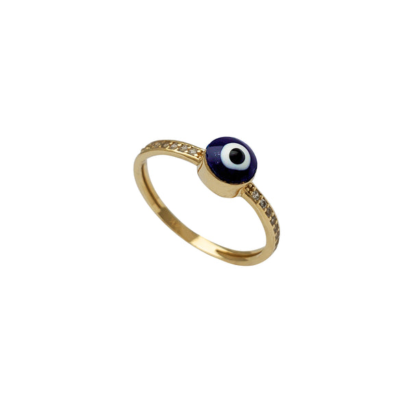 Zirconia Evil Eye Lady Ring (14K)