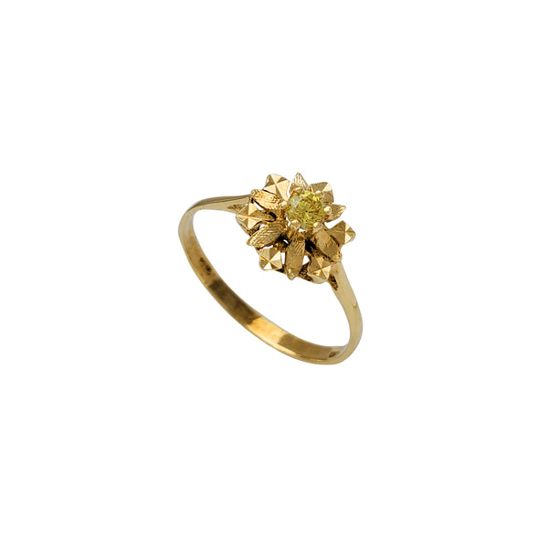 Zirconia Snow-Flower Lady Ring (14K)