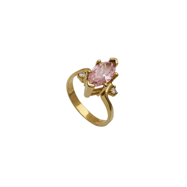 High-Setting Pink Marquise Lady Ring (14K)