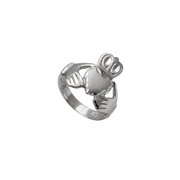 Diamond Cuts Claddagh Ring (14K)