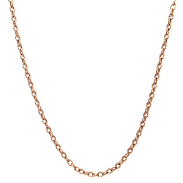 Fluted Diamond-Cuts Cable Chain (14K)
