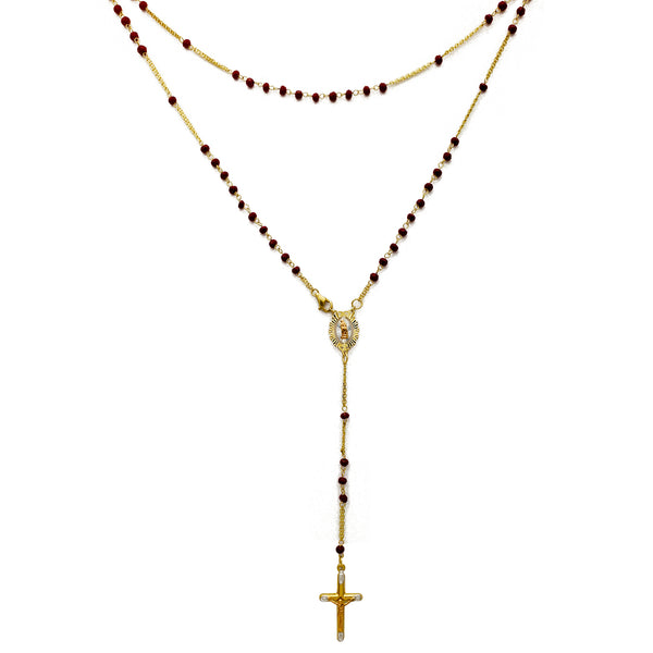 Red Onyx Rosary Necklace (14K)