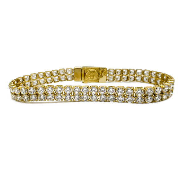 2-Row Zirconia Tennis Bracelet (14K)