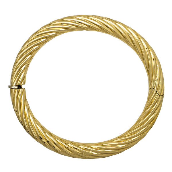 Hollow Rope Bangle Bracelet (14K) Popular Jewelry New York