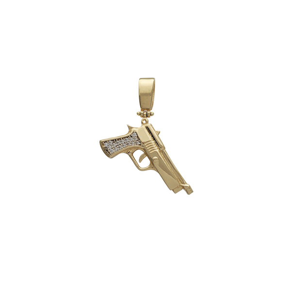 Zirconia Colt 1911 Pendant (14K) Popular Jewelry New York