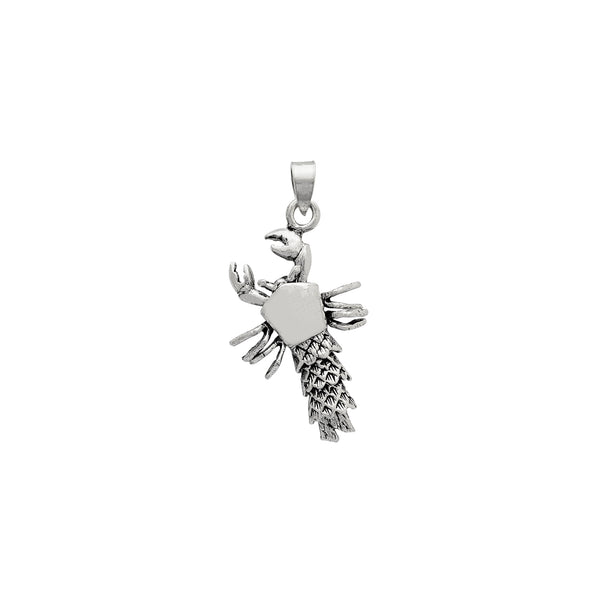 Silver Antique-Finish 3D Lobster Pendant (Silver) Popular Jewelry New York
