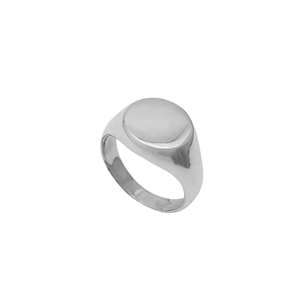 Hollow Round Signet Ring (Silver) Popular Jewelry New York