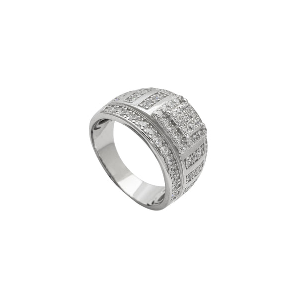 Zirconia Iced-Out Men's Ring (Silver)