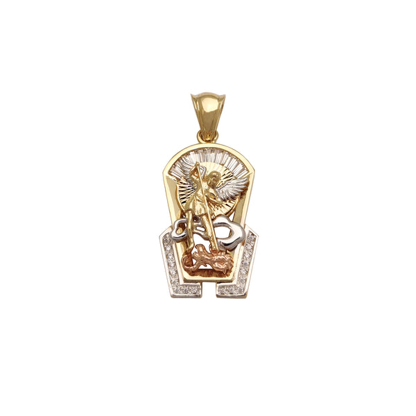 3D Saint Michael -riipus (14 kt) Popular Jewelry New York