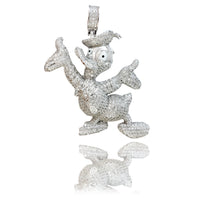 CZ Iced Out Donald Duck (Ke kālā Sterling) - Popular Jewelry