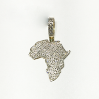 Africa Map Diamond Iced-Out Pendant (10K) - Popular Jewelry - New York
