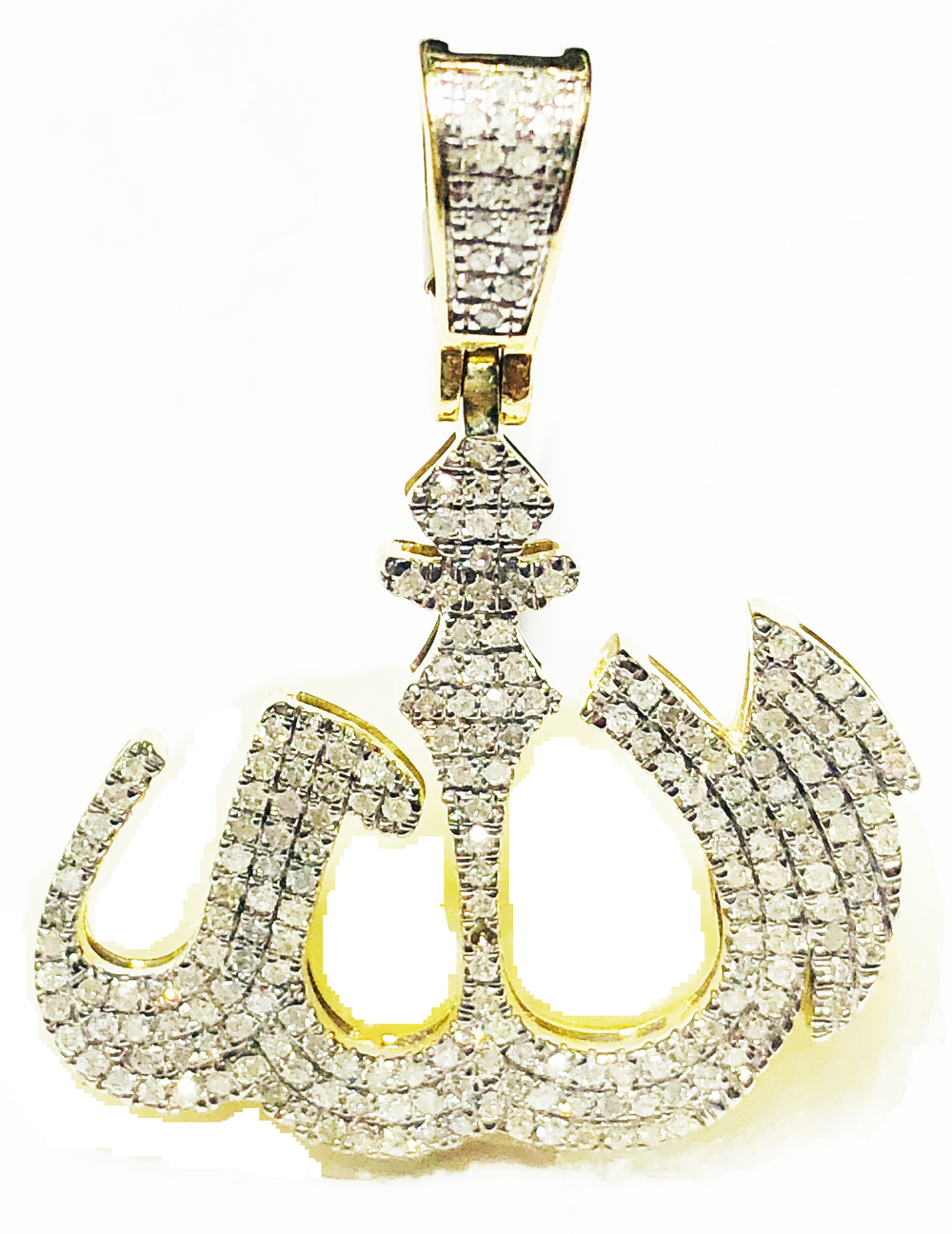 Iced Out Diamond Allah Pendant (10K)