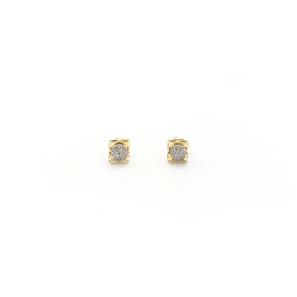 Завушніцы Diamond Dome Stud (10K) спераду - Popular Jewelry - Нью-Ёрк