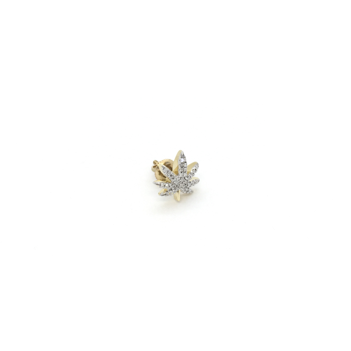 412a54cf1ddda Diamond Iced Marijuana Leaf Stud Earrings (10K)