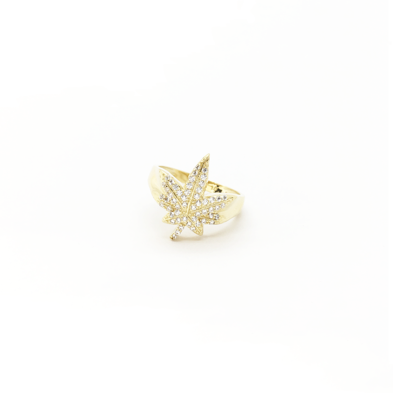 products/417_10_karat_Yellow_Gold_Marijuana_Leaf_Cubic_Zirconia_Ring_front_angle_view_web_product_Popular_Jewelry_New_York.png