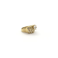 Replicating Heart CZ Ring (10K) right - Popular Jewelry - New York