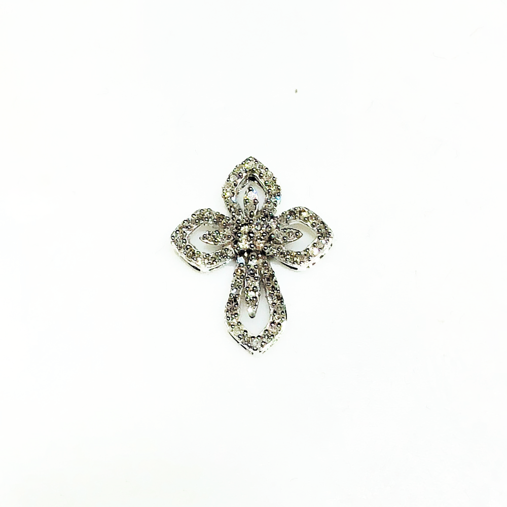 Elegant Diamond Cross (10K) - Popular Jewelry
