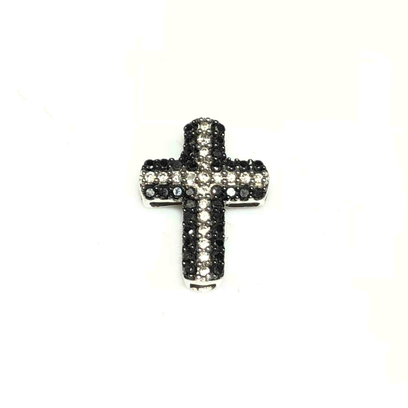 Monochromatic Diamond Cross Pendant (10K)