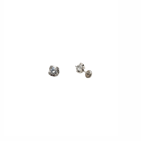 Four-Prong Stud Earrings (14K)