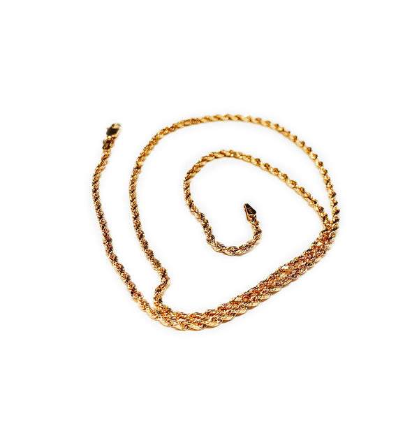 Light Weight / Hollow Rope Rose Chain (14K).