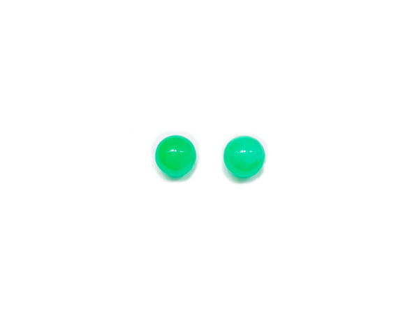 Jade Ball Earrings (14K).