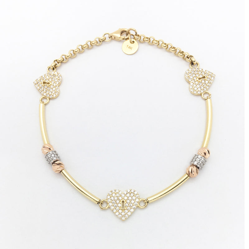 products/585-14-Karat-Tri-Color-Gold-Heart-Lock-Cubic-Zirconia-Bracelet-Main-Angle-View-Web-Product-Popular-Jewelry-Lucky-Diamond-New-York.jpg