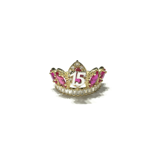 Quinceanera Crown Ring (14K) 전면- Popular Jewelry - 뉴욕